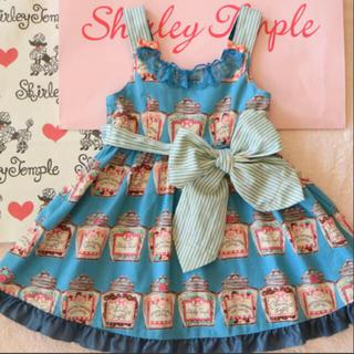 Shirley Temple - シャーリーテンプル  キャンディポット トドラージャンパースカート 100