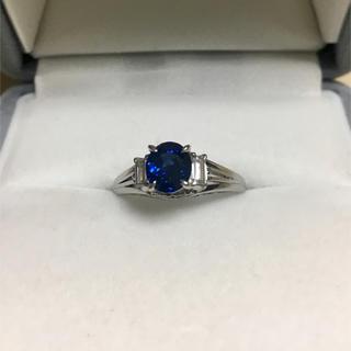 ダイヤモンド×サファイアリング Pt900 0.88ct 0.22ct 4.4g(リング(指輪))