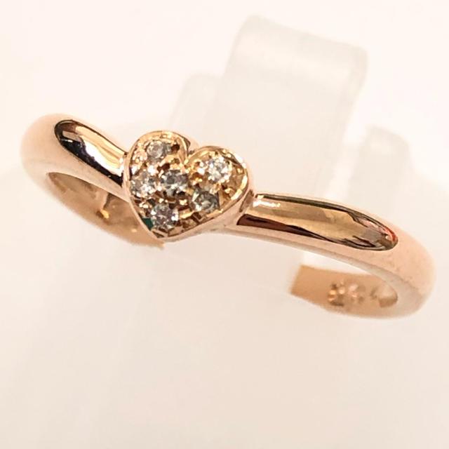 STAR JEWELRY(スタージュエリー)のスタージュエリー リング ダイヤモンド k18pg ピンクゴールド ハート  レディースのアクセサリー(リング(指輪))の商品写真