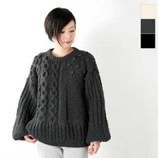ヤエカ(YAECA)の新品● ハーベスティ パネル編み バルーンスリーブニットharvesty(ニット/セーター)