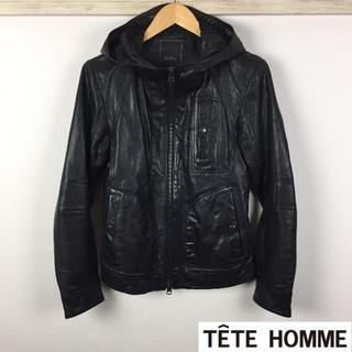 テットオム(TETE HOMME)の美品 テットオム レザージャケット ブラック サイズ5(レザージャケット)