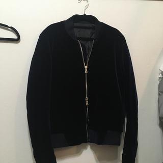 ハレ(HARE)のVLADVLADES 韓国ブランド ベルベットジャケットMA-1 Mサイズ(ブルゾン)