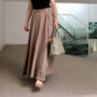 マディソンブルー(MADISONBLUE)の美品 マディソンブルー  リネンフレアロングスカート(ロングスカート)