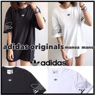 adidas - ブラック Oサイズ adidas originals ロゴ Tシャツ