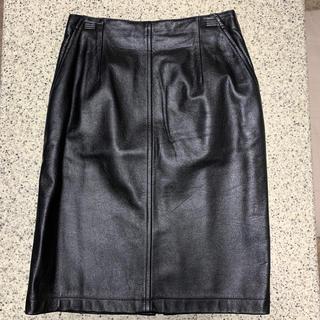 vintageレザースカート(ひざ丈スカート)