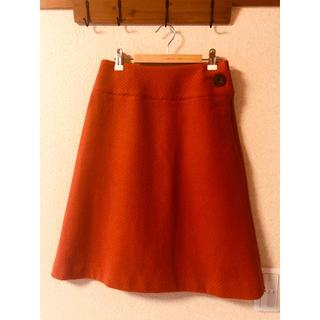 ニューヨーカー(NEWYORKER)のSallyScott サリースコット オレンジ ウール定番台形スカート☺︎ ❥❥(ひざ丈スカート)