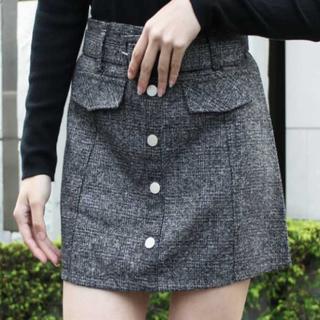 ディーホリック(dholic)のチェックウールスカート♡(ミニスカート)