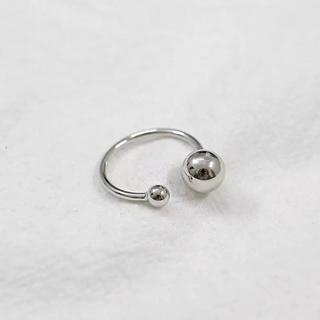 ジーナシス(JEANASIS)のシルバー 925 シャカ玉 フリーリング(リング(指輪))