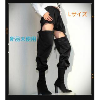 ★大ヒット御礼★ガーターベルト風 2wayウエストパンツ ダンス バックル L(カジュアルパンツ)