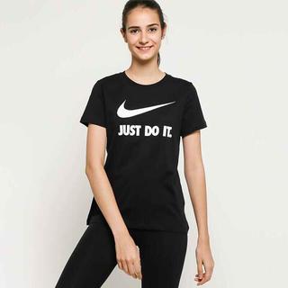 ナイキ(NIKE)の新品 NIKE ナイキ Tシャツ S スウッシュ 黒 レディースjustdoit(Tシャツ(半袖/袖なし))