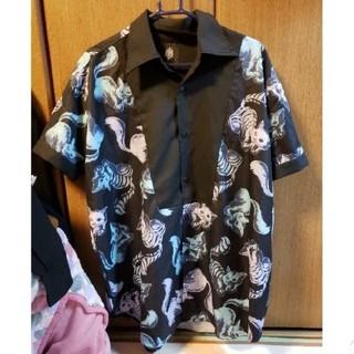 FUNKY FRUIT - 【SALE】ドラッグハニー スケルトンチェシャ半袖シャツ ブルー