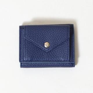 コーエン(coen)のcoen コーエン フェイクレザー 三つ折り 折り財布 ミニ財布 ネイビー  青(財布)