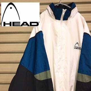 ヘッド(HEAD)のHEAD ヘッド ナイロンジャケット ブルゾン マルチカラー ビッグロゴ 90s(ナイロンジャケット)