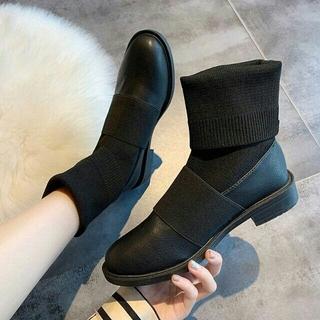 美脚  韓国 新作 靴下ブーツ   ソックスブーツ (ブーツ)