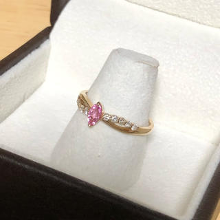 パパラチアK18PGダイヤリング☆指輪☆12号(リング(指輪))