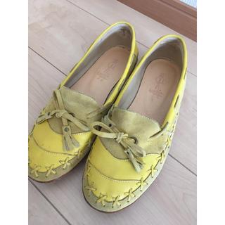 アシナガオジサン(あしながおじさん)のあしながおじさん 黄色 革靴 靴(ローファー/革靴)