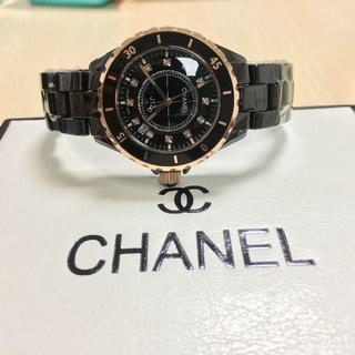 CHANEL - 黒金 白金腕時計 レディース/メンズ