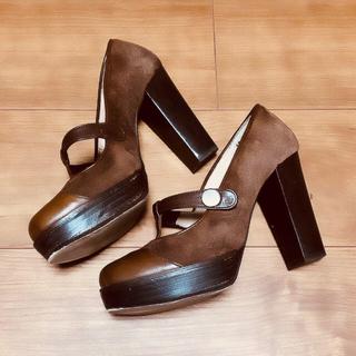 JILLSTUART - JILLSTUART shoe/スエードパンプス/ベルト/濃茶/22.5cm