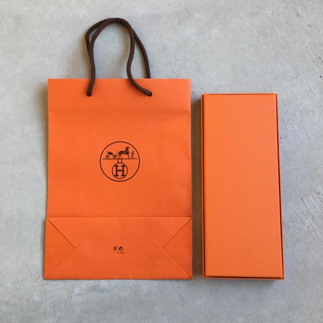 Hermes(エルメス)の【かっちゃん様専用】HERMES エルメス ショッパー・空箱・リボン レディースのバッグ(ショップ袋)の商品写真