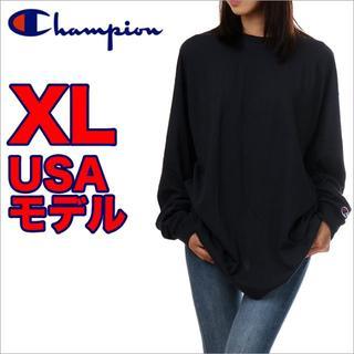 チャンピオン(Champion)の【新品】長袖 Tシャツ 黒(Tシャツ(長袖/七分))