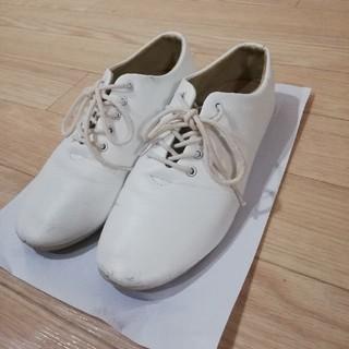 アーバンリサーチ(URBAN RESEARCH)のFORK&SPOON Ballet Shoes 靴 ホワイト(ローファー/革靴)