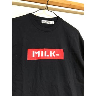 MILKFED. - ネイビー ボックスロゴTシャツ