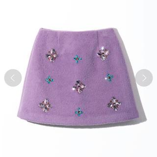 レディアゼル(REDYAZEL)の♡レディアゼル  ビジュースカート パープルS♡(ミニスカート)