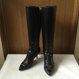 ルイヴィトン(LOUIS VUITTON)の美品 ルイヴィトン ブーツ 黒(ブーツ)