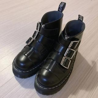 Dr.Martens - 【希少】Dr.Martens アギネス ディーン 3連 ベルト ブーツ