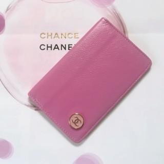 CHANEL - 5万円(参考価格)シャネルココボタン♥ピンクカードケース名刺入れ