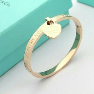 Tiffany & Co. - 素敵♥人気 TIFFANY & Co. ブレスレット 刻印 ピンクゴールド