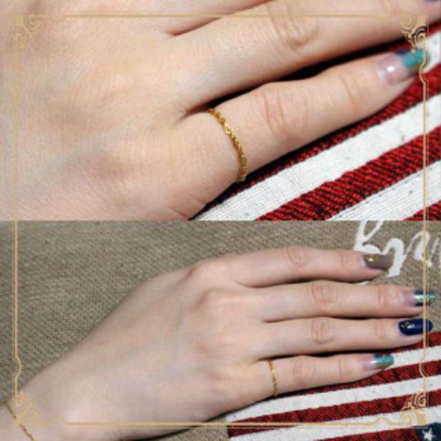 K14GF チェーンリング ゴールド レディースのアクセサリー(リング(指輪))の商品写真
