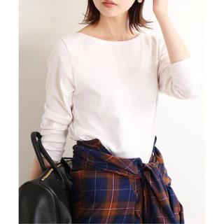IENA - AURALEE IENA 別注ボートネックTシャツ ホワイト系 新品未使用 36