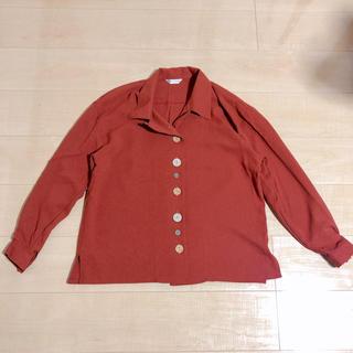 赤オレンジシャツ(シャツ/ブラウス(長袖/七分))