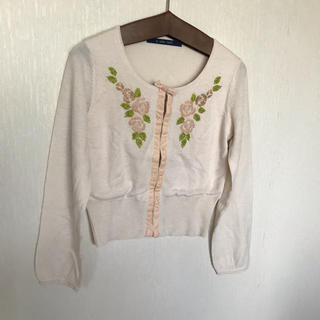 an another angelus - バラのビーズ刺繍カーディガン/ananotherangelus fintフィント