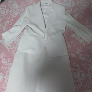 ナチュラルビューティーベーシック(NATURAL BEAUTY BASIC)の[サイズL]ナチュラルビューティーベーシック 白スーツ(スーツ)