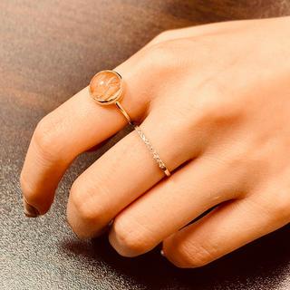人気のルチルクォーツ  K18YG リング(リング(指輪))
