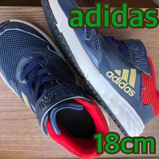 adidas - *adidas アディダス 18cm 子供用 スニーカー 紺 赤 金*