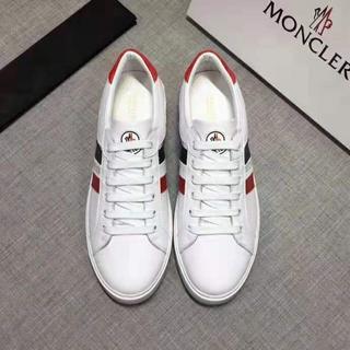 MONCLER - 大人気美品Monclerフラットシューズ(メンズ) /白い