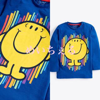 ネクスト(NEXT)の【新品】ブルー 長袖Mr Happy Tシャツ(ヤンガー)(シャツ/カットソー)