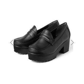 GRL - GRL 厚底ヒールローファー ブラック 黒 23.5cm ブーツ ブーティー