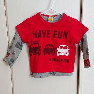 ムージョンジョン(mou jon jon)の【mou jon jon】長袖半袖Tシャツ 80cm(Tシャツ)