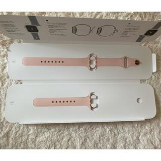 アップルウォッチ(Apple Watch)の【新品】Apple Watch スポーツバンド 40mm ピンク(腕時計)