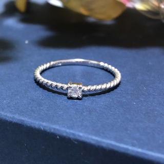 ジュエリーツツミ(JEWELRY TSUTSUMI)のK10 天然ダイヤモンド ツイスト リング(リング(指輪))