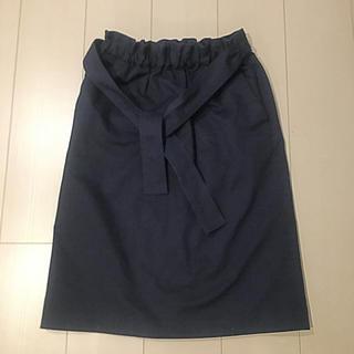バーニーズニューヨーク(BARNEYS NEW YORK)のバーニーズ スカート ウエスト リボン(ひざ丈スカート)