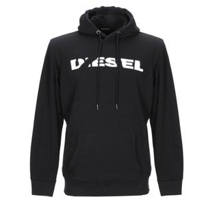 DIESEL - DIESEL メンズ ロゴ パーカー Lサイズ ブラック