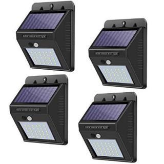 ★即日発送★ 4個組 人感センサー ソーラーライト 太陽光 30LED 防水