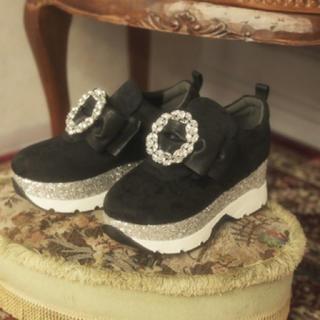 スワンキス(Swankiss)のSwankiss ビジュー シューズ(ローファー/革靴)