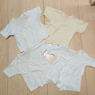 コンビミニ(Combi mini)のコンビミニ西松屋 短肌着4枚セット 新生児 50~60(肌着/下着)
