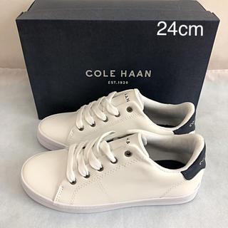 コールハーン(Cole Haan)の未使用 コールハーン スニーカー マリンブルー 24cm COLE HAAN(スニーカー)